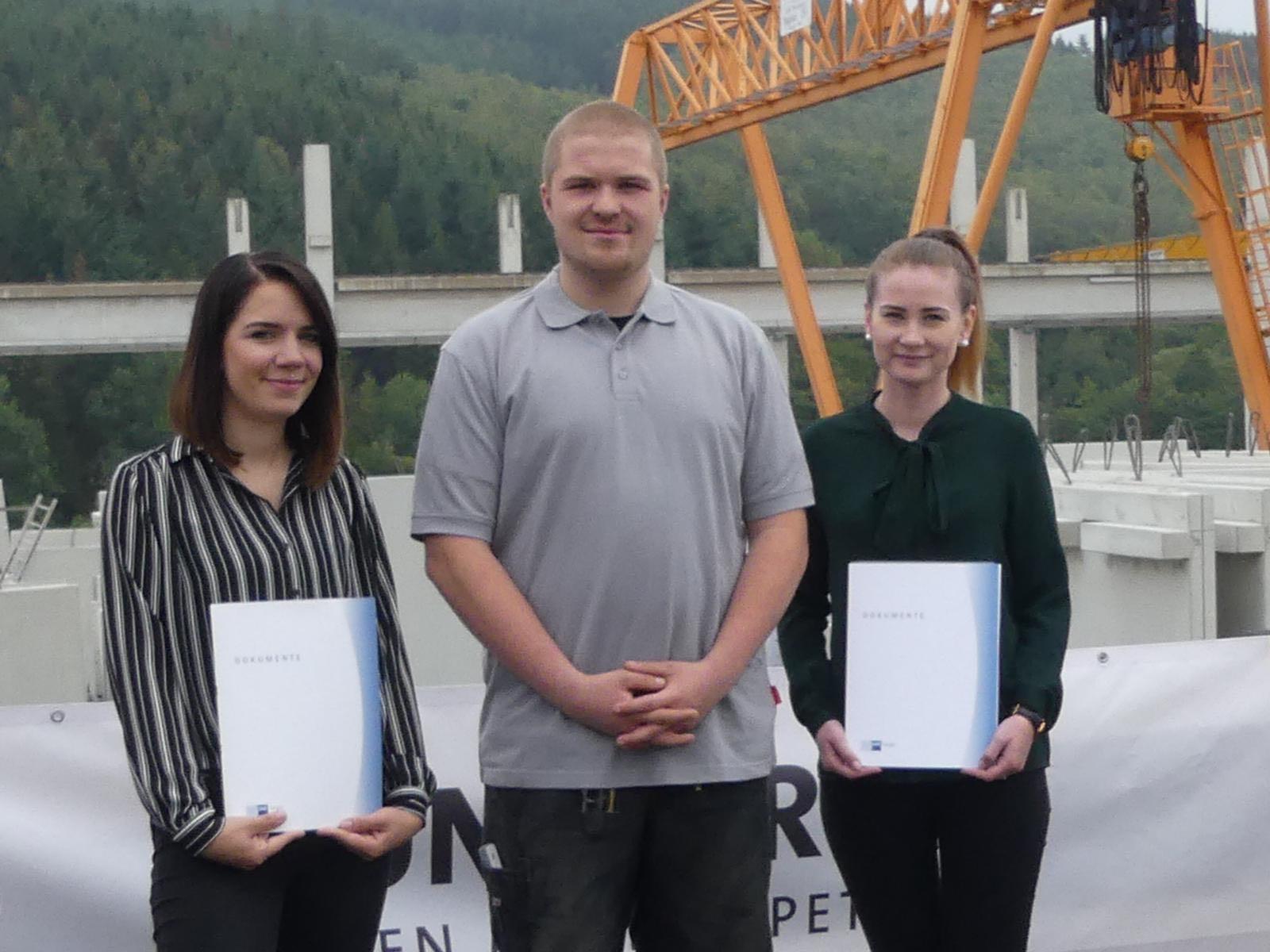 Erfolgreiche Ausbildung 2019 bei der Bauunternehmung GÜNTHER GmbH + Co. KG